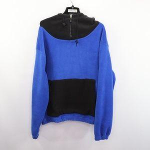 90s Color Block Mens Large Half Zip Fleece Jacket